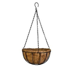 Gilbert Bennett Canterbury 12 In Metal And Coconut Liner Hanging Basket Hbcb12 B Metal Hanging Planters Pot Hanger Hanging Baskets