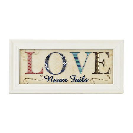 Love Never Fails Scrapbook Shadowbox | Kirklands
