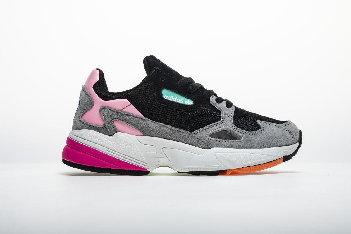 6628e73491f Adidas Falcon W BB9173 YUNG-2 Black Pink Shoes3