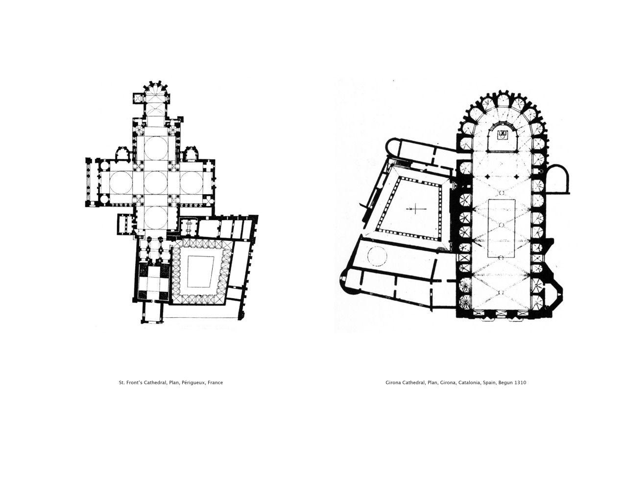 Plan Comparison St Front S Cathedral Plan Perigueux