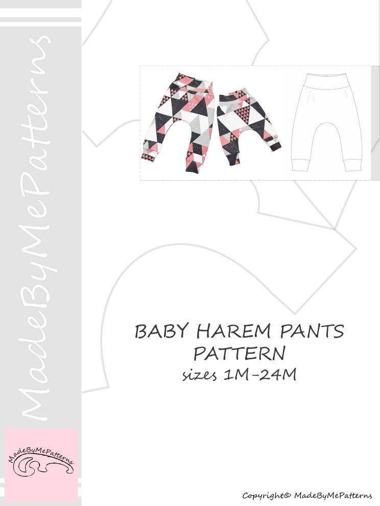 Baby harem pants Sewing Pattern PDF baby sewing patterns size 124M Instant Download Sewing Pattern Baby harem pants Sewing Pattern PDF baby sewing patterns size 124M Inst...