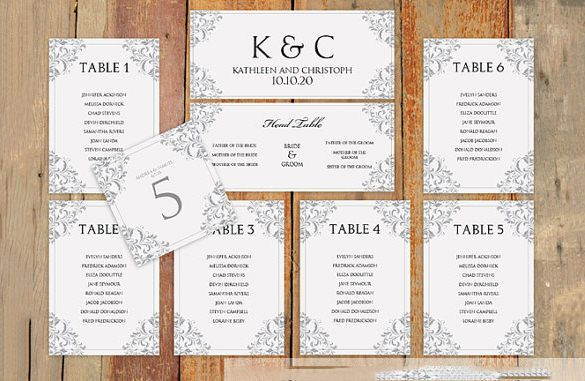 wedding seating chart template  u2013 11  free sample  example