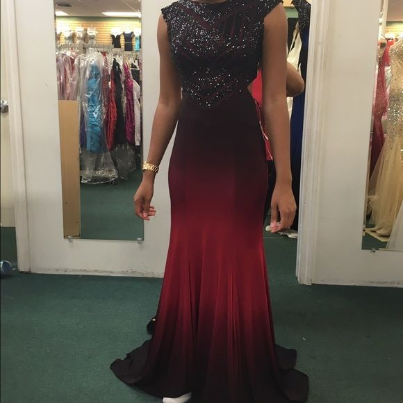 Prom Dress Red Black Ombré Prom Dress Dresses Prom My Posh Picks