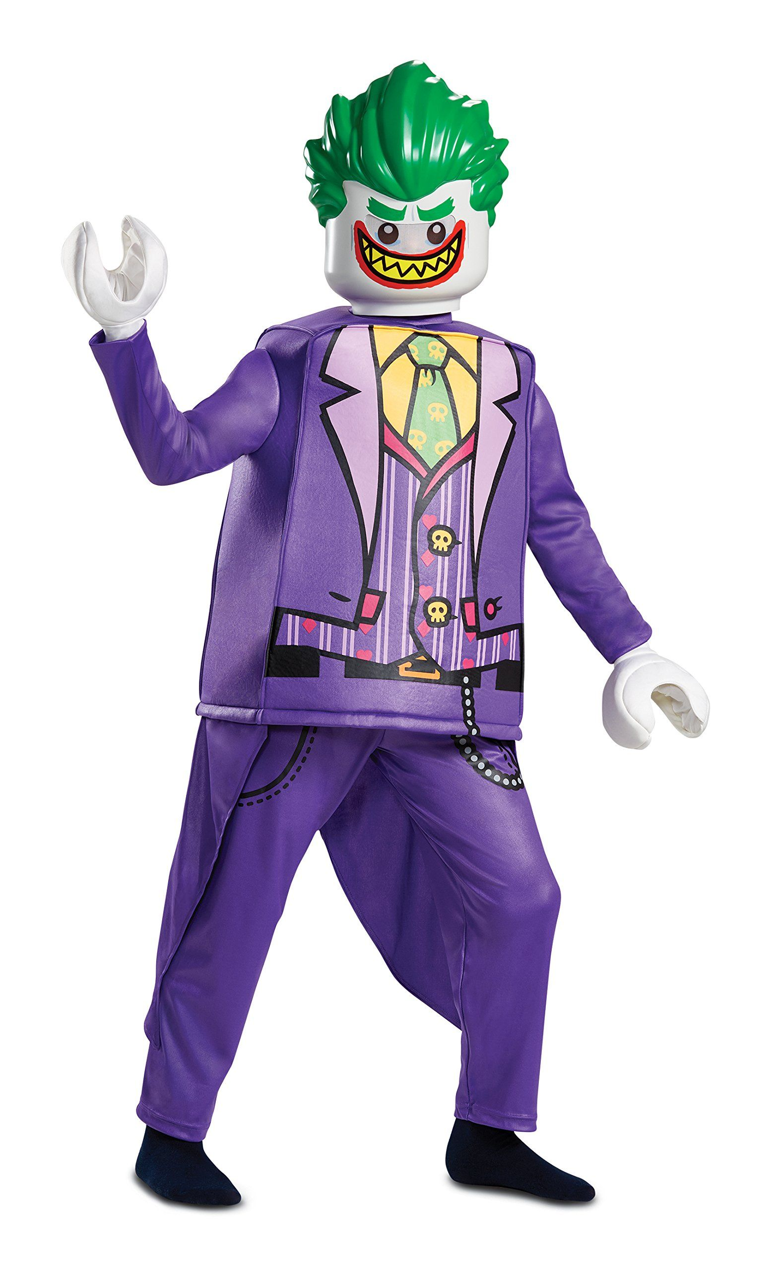 Joker Deluxe Child Costume Batman Villain Movie Halloween