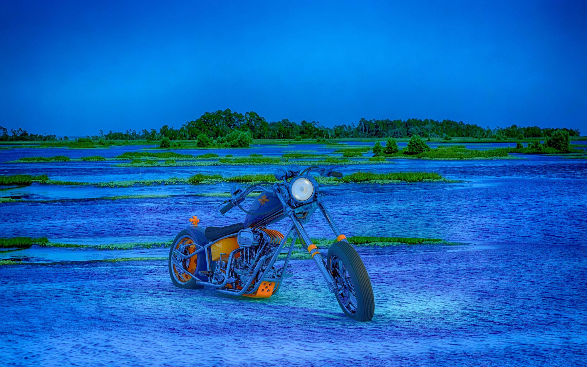 3D Render Custom motorcycle - 3D Render Custom motorcycle in Sleepy Cedar Key Florida