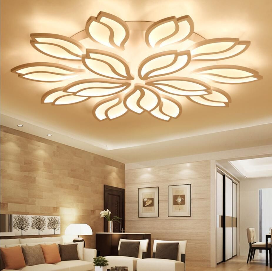 Modern Led Ceiling Lamp Lotus Flower Pendant Lighting For Bedroom