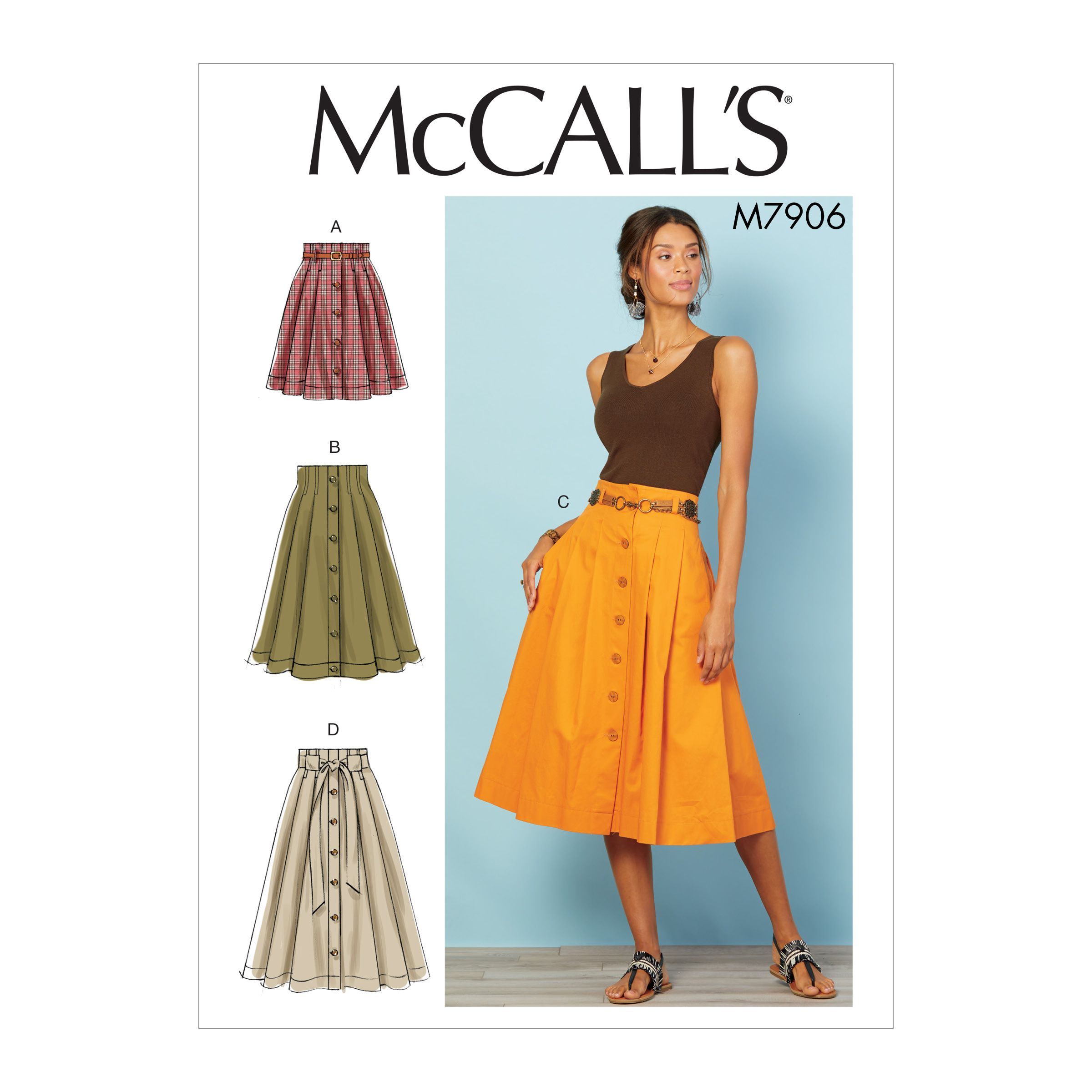 77f784e383 High Waisted Midi Skirt Sewing Pattern – DACC