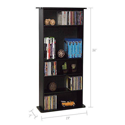 Atlantic Drawbridge Media Storage Cabinet - Store & Organize A Mix of Media 240Cds, 108DVDs Or 132 Blue-Ray/Video Gam...
