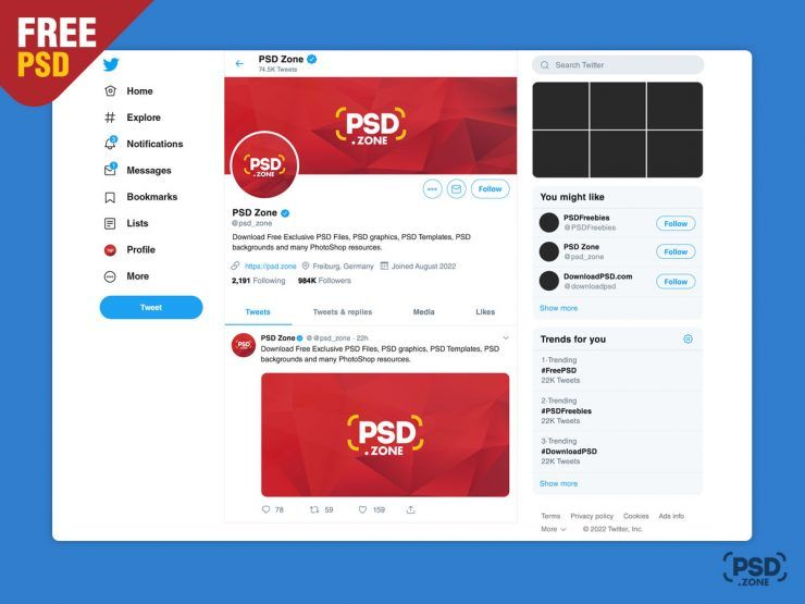 New Twitter Post Free Mockup 2019 New Twitter Business Card Psd Free Psd Flyer Templates