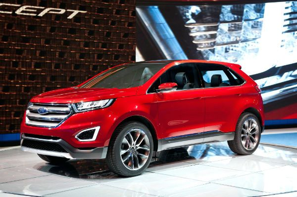 Ford Edge  Ford Edge Redesign Changes And Release Date Automotivefree Dimensions Image