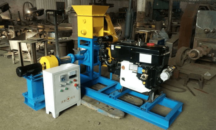 Diesel Engine Fish Feed Extruder Machine Fish Feed