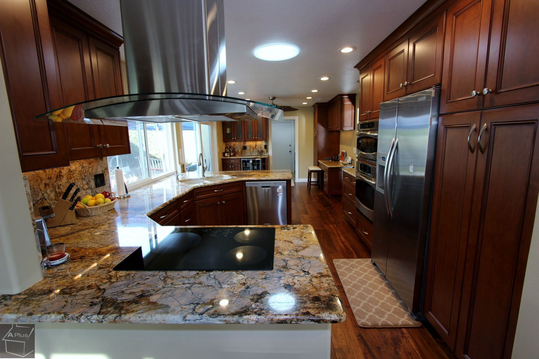 Kitchen Remodel with custom Cabinets in Fountain Valley