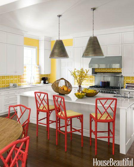Island lighting.        Statement Wire Chandelier - Kitchen Lighting Ideas - House Beautiful