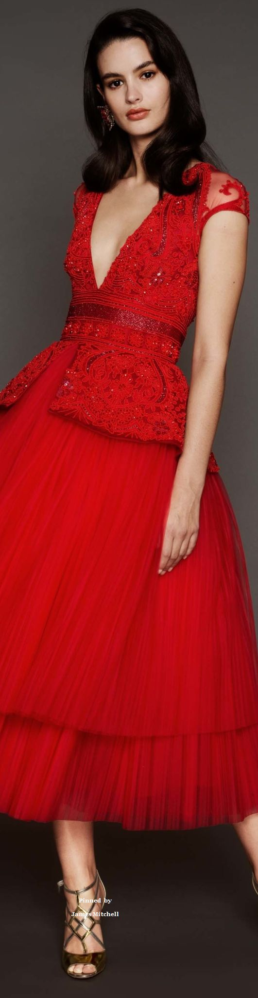 Naeem khan collections prefall collection i love red