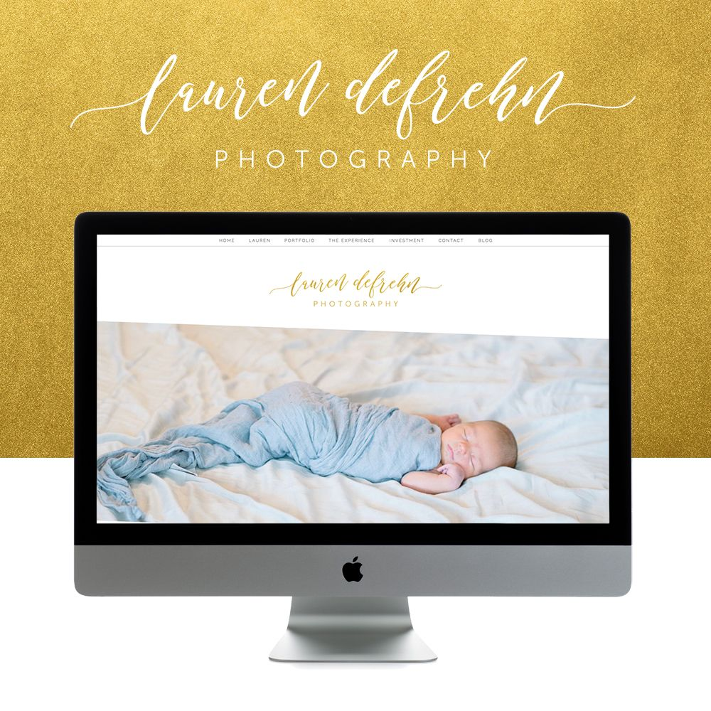 Working with photographer,Lauren, of laurendefrehn.com,was so much  fun!She knew her style and what she wanted in her new logo. We worked hard  to deliver the perfect logo and we nailed it! Getting to Restyle Belmont  was fun because Lauren's content fit so perfectly together with the theme.  She wanted a clean and feminine look & her gold and blue colors not only  were an obvious color palate for her, but later come to find out that  Lauren was undergoing a kitchen remodel and…