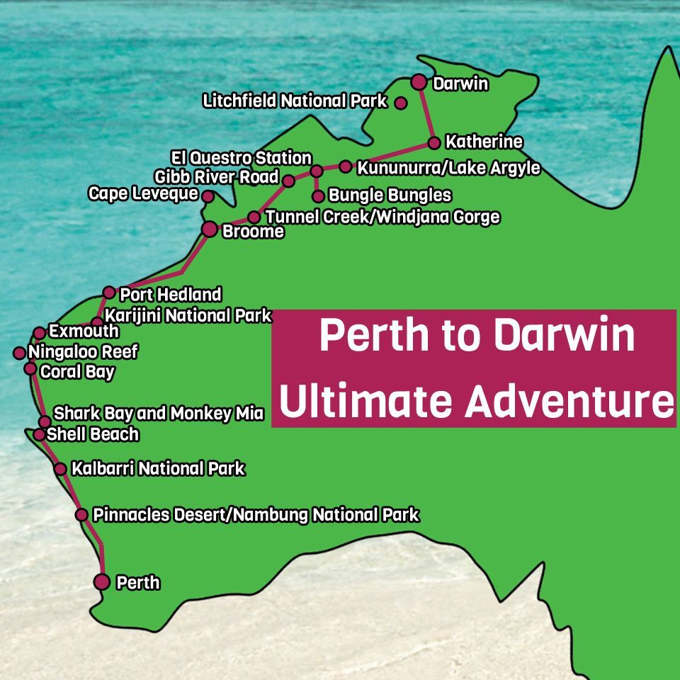 Australia West Coast Map.Perth West Coast Australia Tours One Stop Adventures In 2019