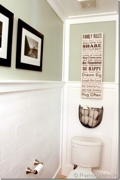 Wire Planter Above Toilet To Hold Tp In Small Bathroom Half Bathroom Small Bathroom Bathroom Inspiration
