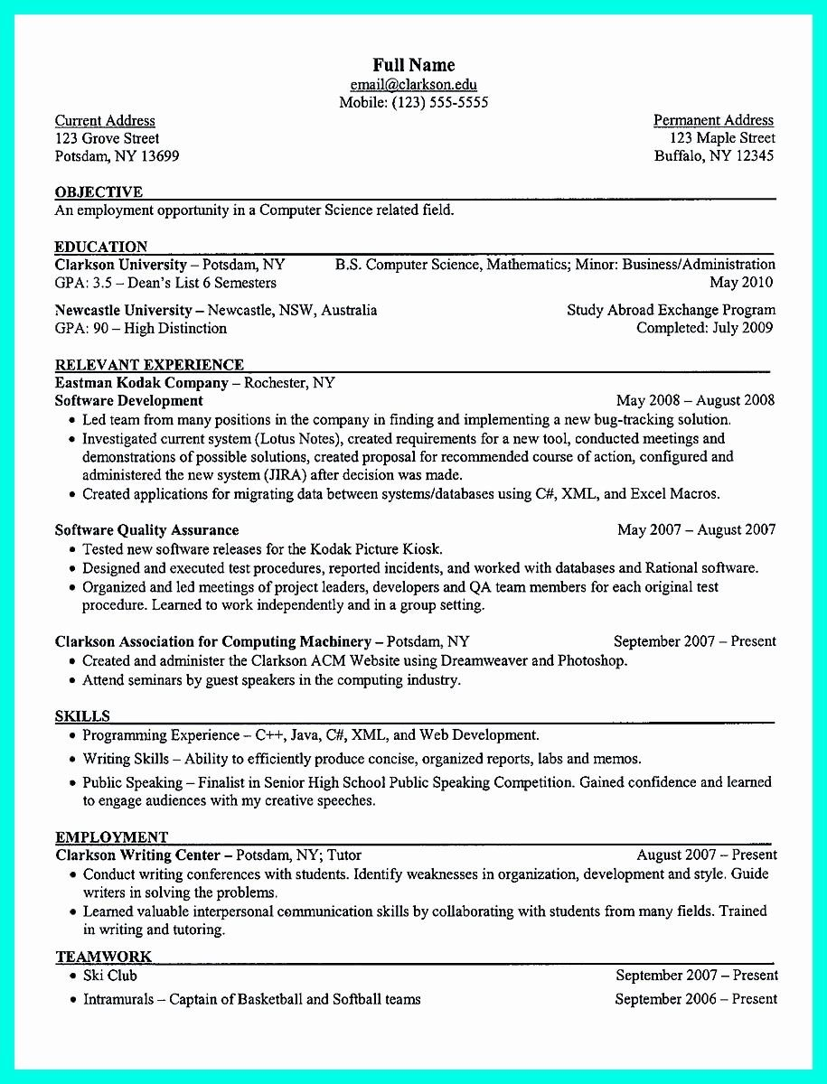 25 College Freshman Resume Template in 2020 Resume