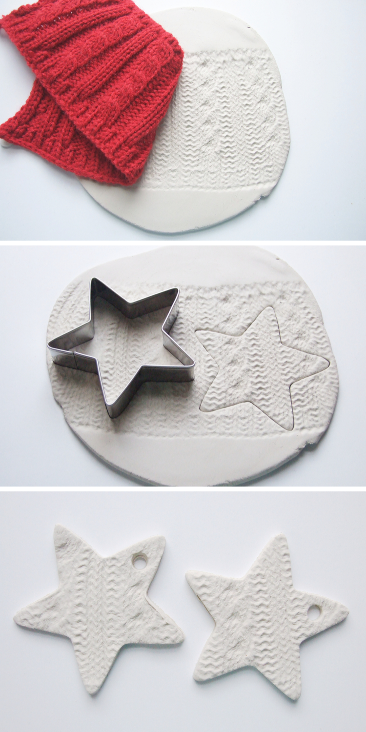 DIY EMBOSSED CLAY STAR DECORATIONS. — Gathering Beauty