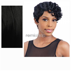 Equal (SNG) In Style Wig Emma  - Color 1B - Synthetic (Curling Iron Safe) Regular Wig