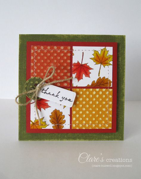 Autumnal cards by cbuswell - Cards and Paper Crafts at ...