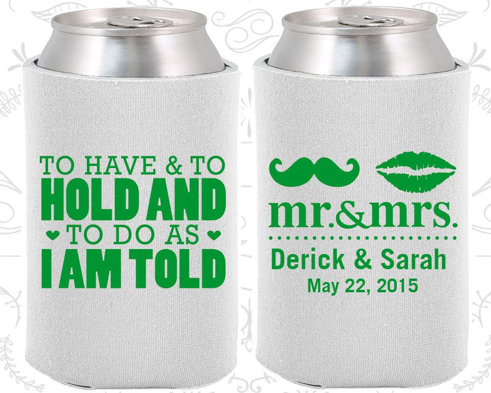 Famous Beer Koozies Wedding Favors Ornament - The Wedding Ideas ...