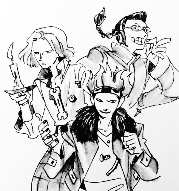 One Piece, Scratchmen Apoo, Hawkins, Kid