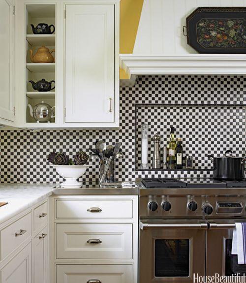 50+ Impossibly Chic Kitchen Backsplashes | Wolf Range, White Tiles