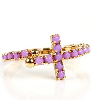 #Windsor                  #ring                     #Lavender/Gold #Dainty #Sidecross #Ring             Lavender/Gold Dainty Sidecross Ring                                           http://www.seapai.com/product.aspx?PID=1756387
