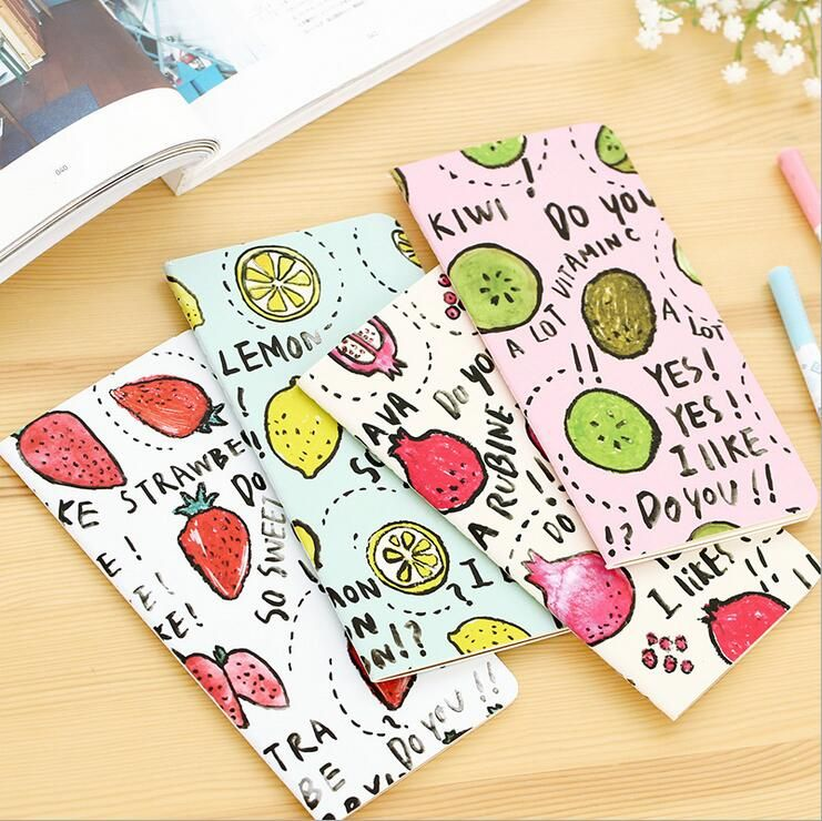 New Cute fruit series notebook Stitching Binding Paper Daily memo - blank memo