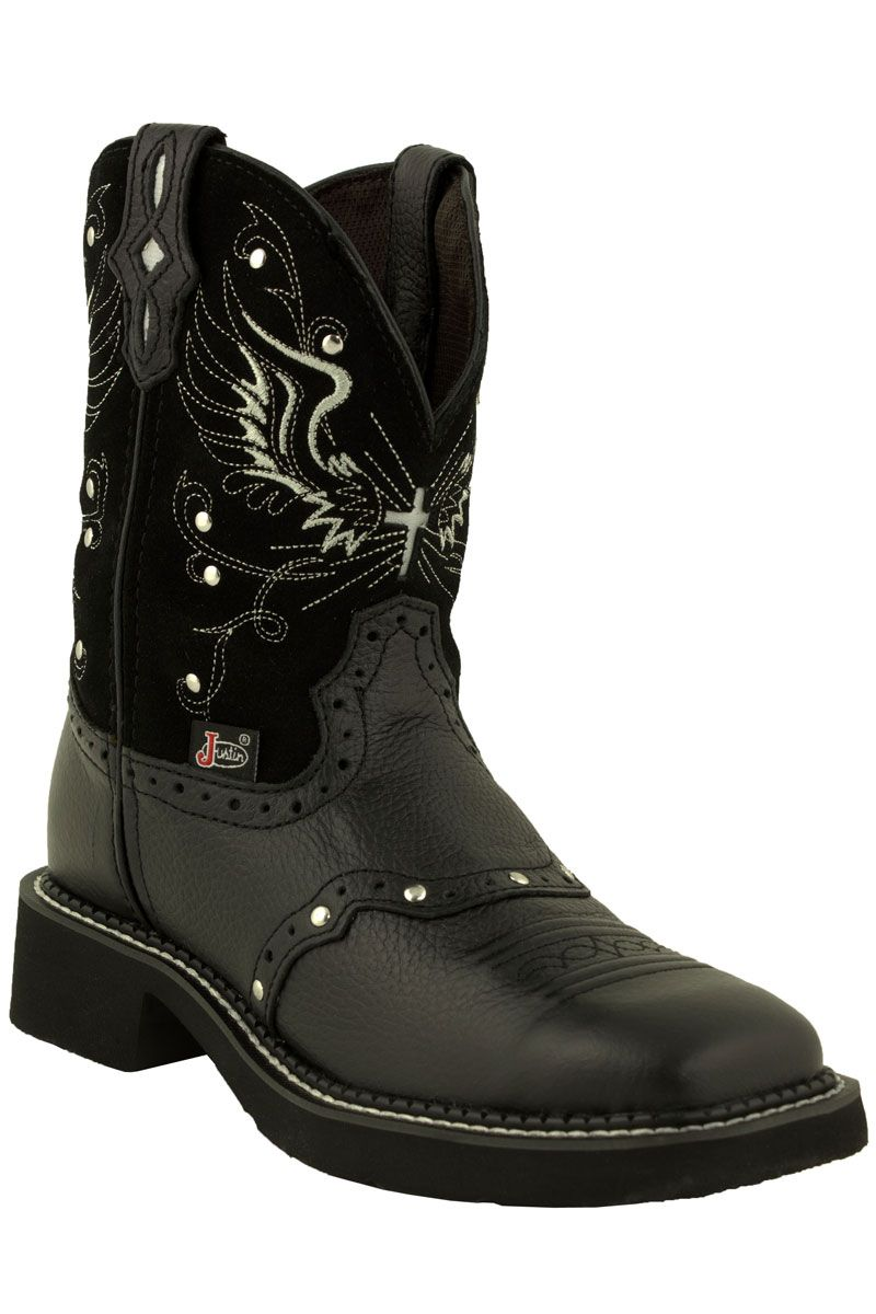 ee390e96c42 Justin Gypsy Black Wings Square Toe Women's Cowboy Boots,, saw these ...