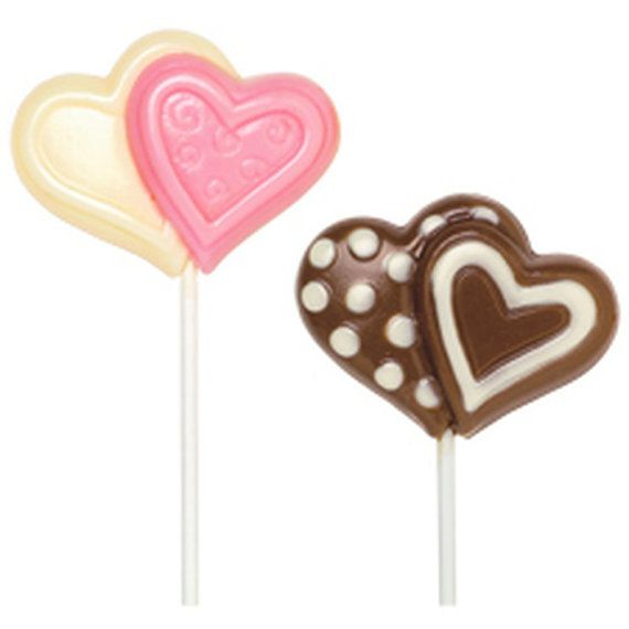 Wilton Double Heart Large Lollipop Chocolate Mold Valentine S Day