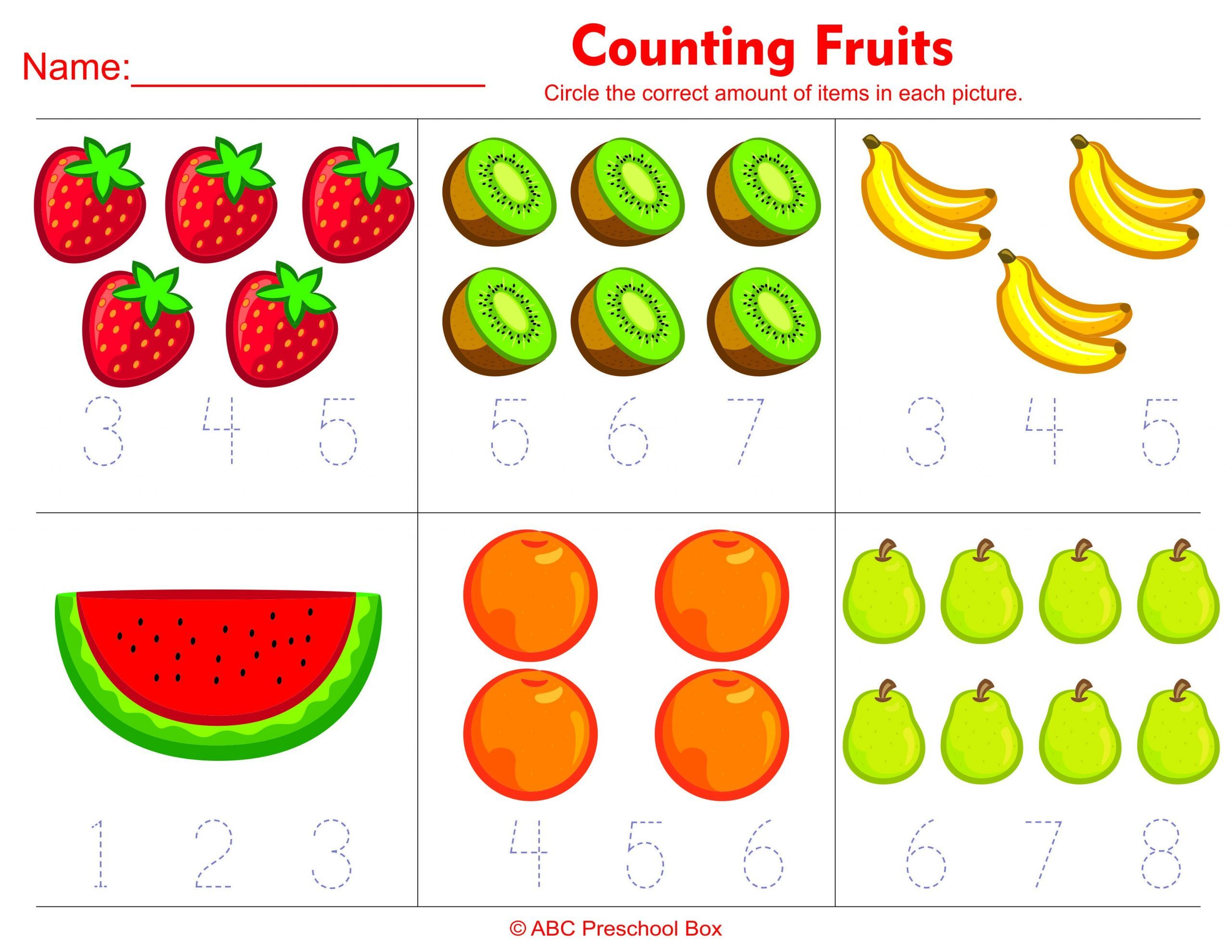 9 Official Counting Worksheets For Kindergarten En