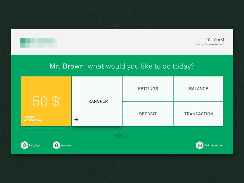 Atm Interface Mobile Ui Examples Interface Design Pos