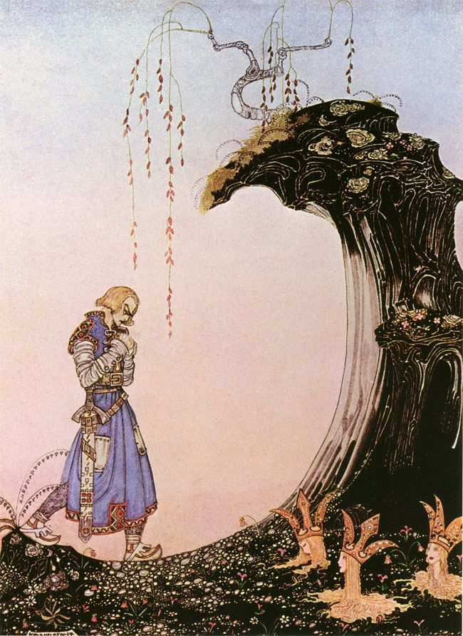 You'll come to three Princesses, whom you will see  standing in the earth up to their necks, with only their heads out.