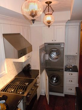 Washing Machine Kitchen Design Ideas Pictures Remodel And Decor Laundry In Kitchen Washing Machine In Kitchen Kitchen Design