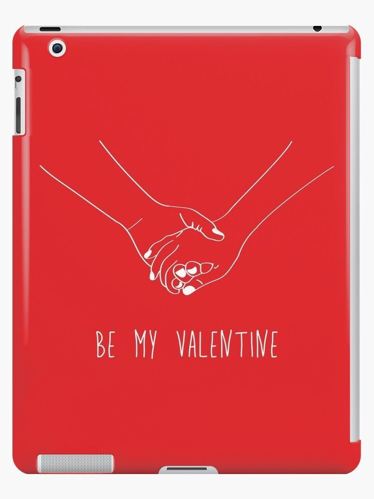 Holding hands - be my valentine quote (red) iPad Case & Skin  #Case #hands #Holding #Ipad #Quote #Red #Skin #Valentine