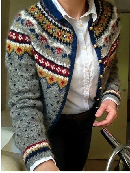 Photo of Manteau – Graues, langärmeliges Vintage-Shift-Manteau mit Blumenmuster online …