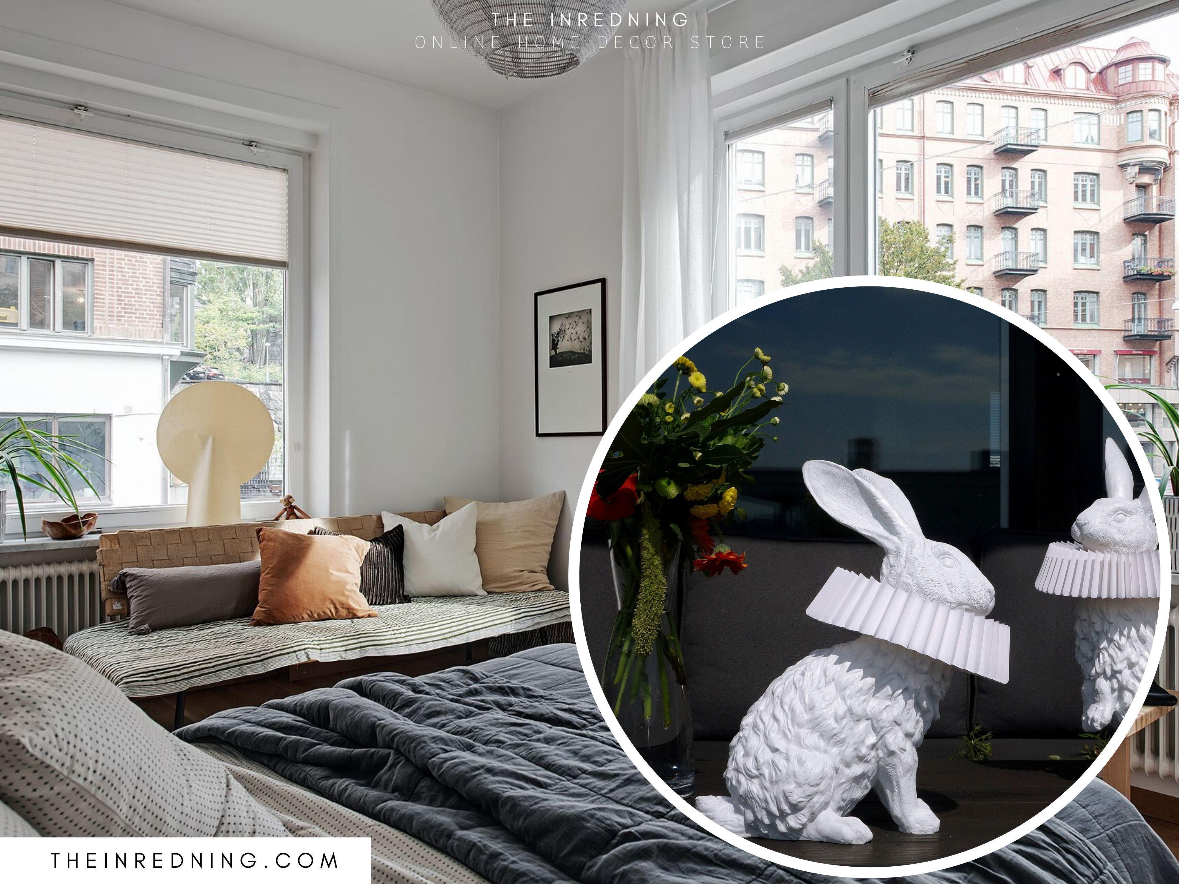 Hasenlampe Mit Deko Skulptur Fur Wohnzimmer Schlafzimmer Kinderzimmer Haus Deko Kinder Zimmer Kinderzimmer