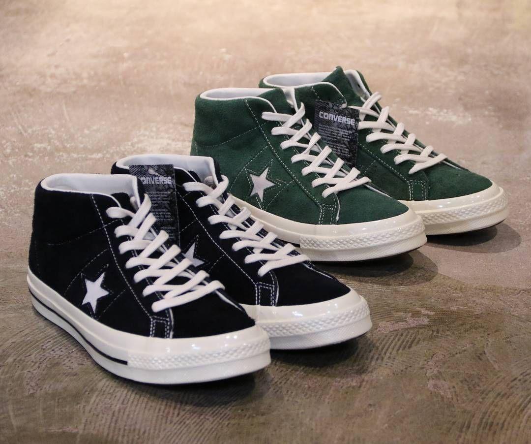 Black Suede / Green Suede