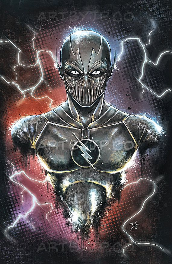 The Flash Zoom Cw Bust Painting 11x17 Poster Print