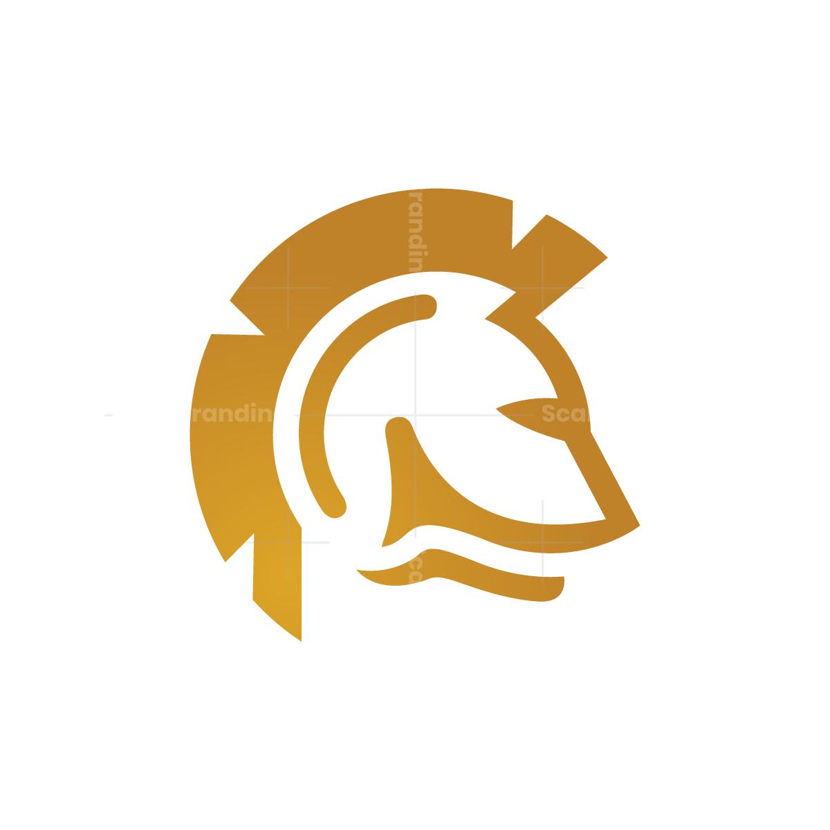 Golden Spartan Helmet Logo Spartan Helmet Helmet Logo Spartan Logo