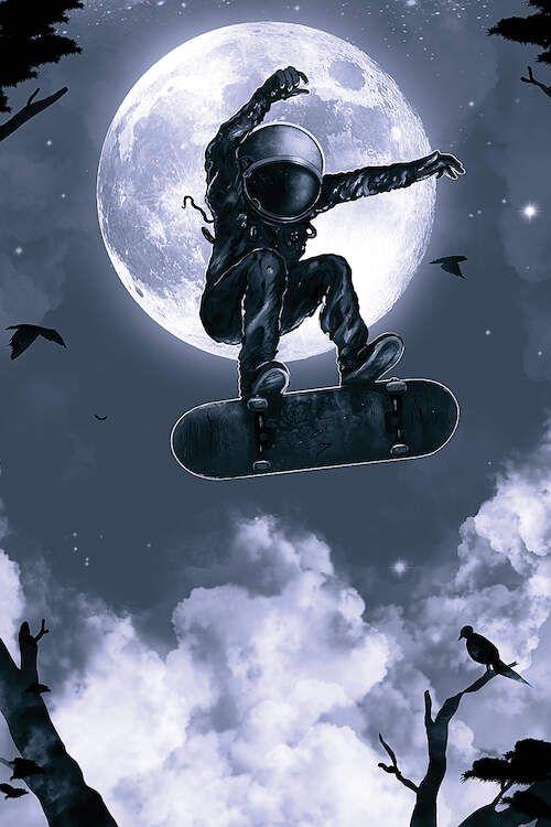 Space Skate - Canvas Print