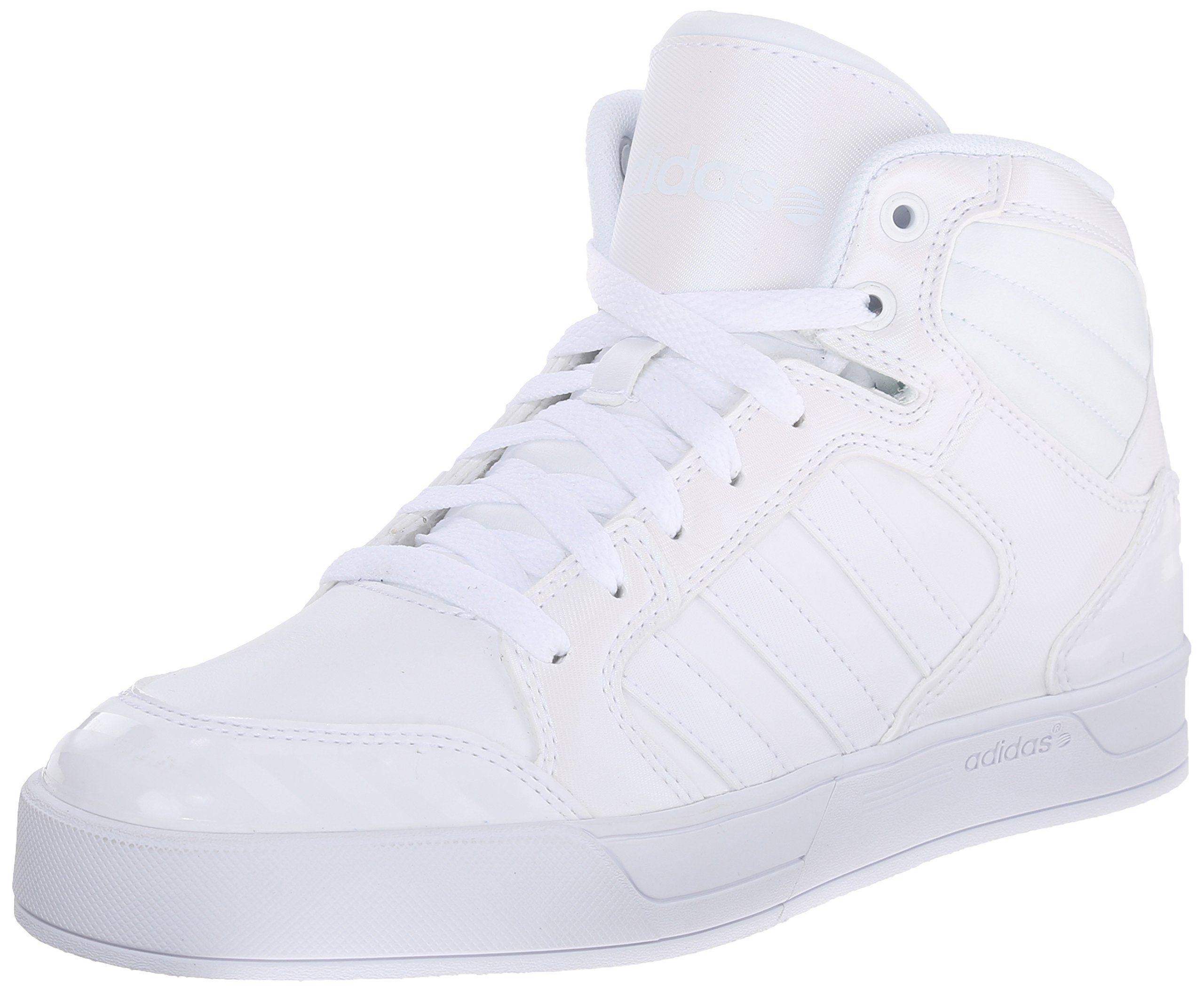 adidas NEO Women's Raleigh Mid W Casual Sneaker,White/White/White,6.5