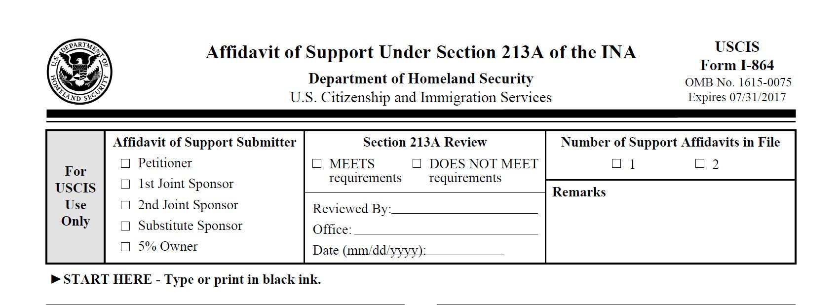 Download Form I 864 How To Plete The Form I 864 Sound Immigration