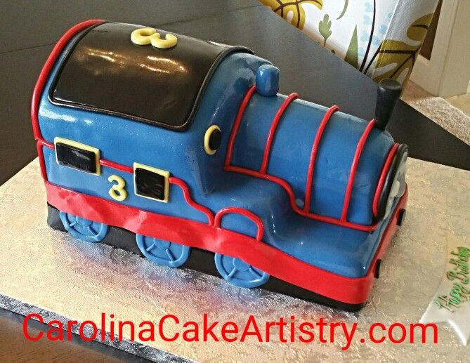 Super cute 3D Thomas The Train birthday cake Birthday Cakes for