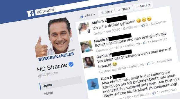 Staatsanwaltschaft untersucht Hasspostings auf Straches Facebook-Seite