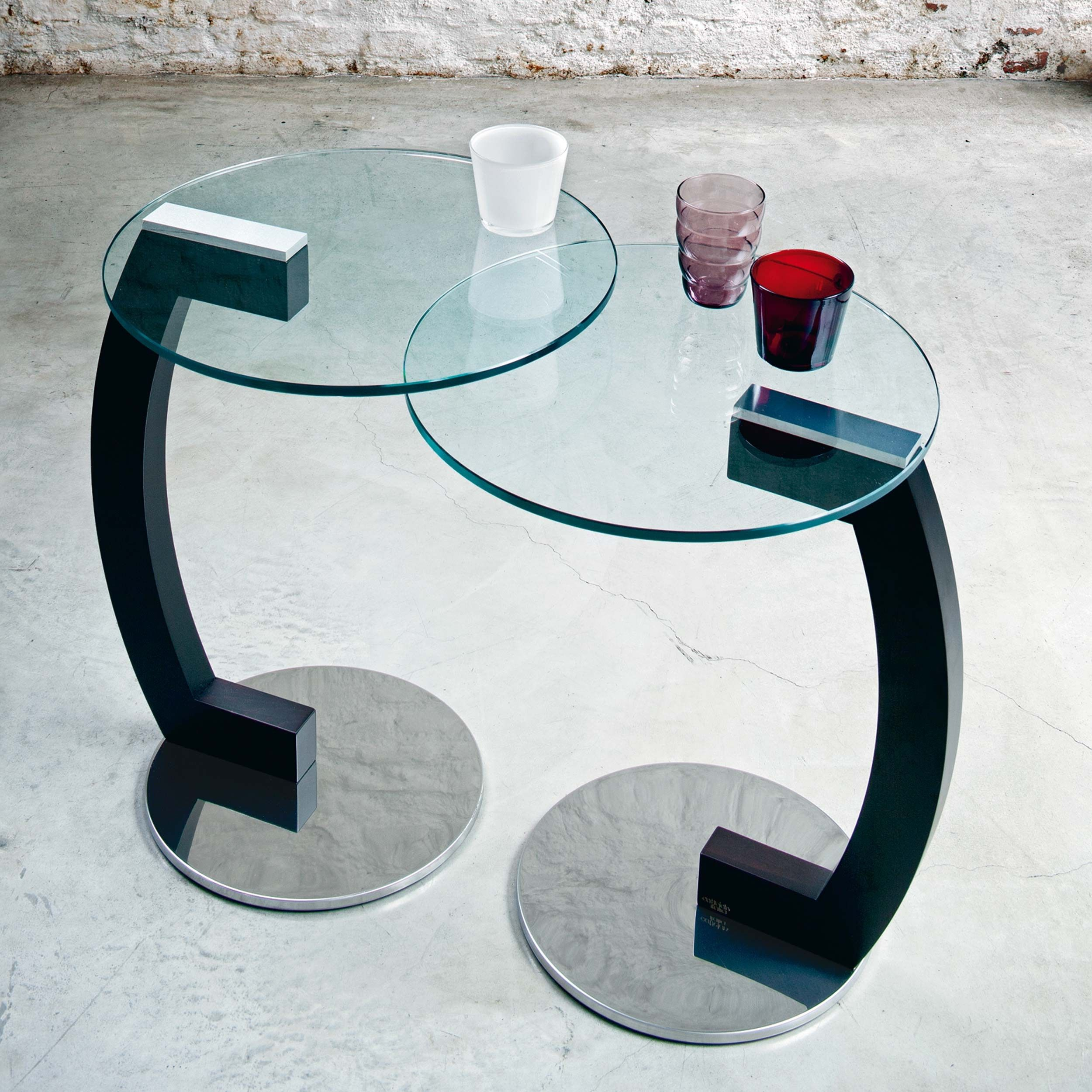 Glass coffee table mod Zen Cattelan Mesa de centro de