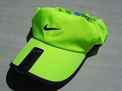 eee171529362e New Neon Yellow Nike Men Women s Golf Hat Dri Fit Tennis Featherlight Run  Cap