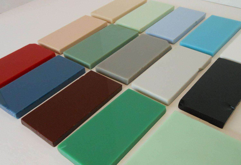 Vitrolite Glass Tile Samples Vintage 1940s Tile Samples Art Deco Bathroom Glass Tile